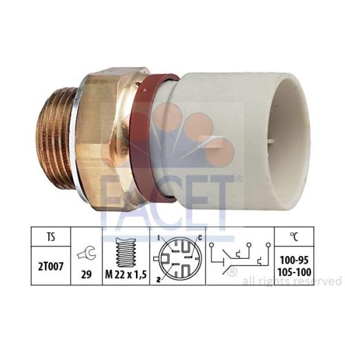 Senzor temperatura ventilator, termocupla radiator Facet 75674