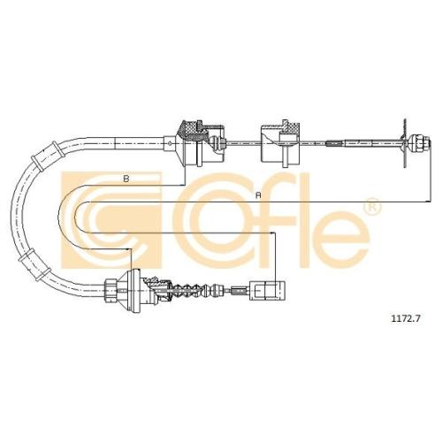 Cablu ambreiaj Citroen Jumper Bus (230p 244); Fiat Ducato (230 244); Peugeot 405 (15b 4b), Boxer Bus (230p 244) Cofle 11727