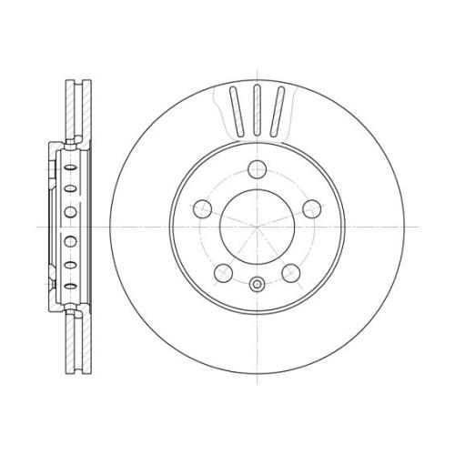 Disc frana Remsa 654510, parte montare : Punte fata