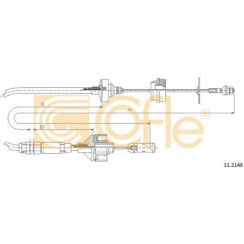 Cablu ambreiaj Citroen Xsara (N1/ N2) Cofle 112148