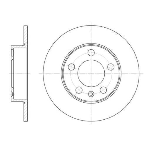 Disc frana Remsa 654700, parte montare : Punte spate
