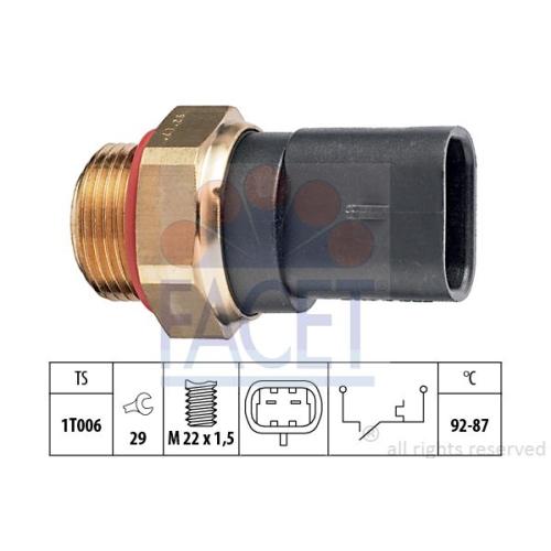 Senzor temperatura ventilator, termocupla radiator Facet 75187