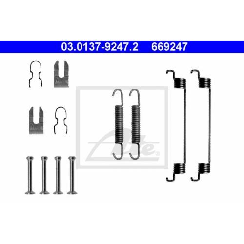Set accesorii reparatie saboti frana Ate 03013792472, parte montare : spate