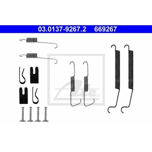 Set accesorii reparatie saboti frana Ate 03013792672, parte montare : punte spate