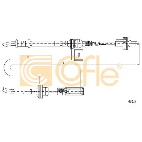Cablu ambreiaj Fiat Brava (182), Bravo 1 (182), Marea (185) Cofle 4623