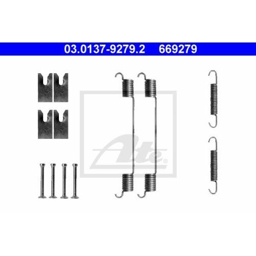 Set accesorii reparatie saboti frana Ate 03013792792, parte montare : punte spate