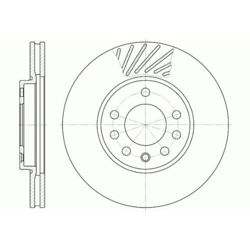 Disc frana Remsa 658410, parte montare : Punte fata