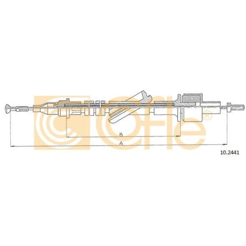 Cablu ambreiaj Ford Transit (E, T) Cofle 102441