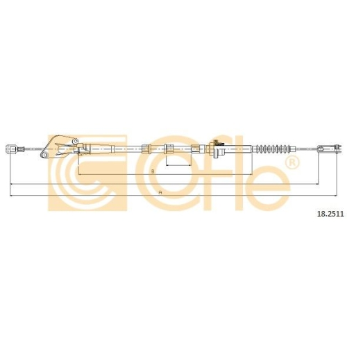 Cablu ambreiaj Kia Picanto (Ba) Cofle 182511