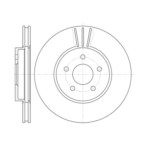 Disc frana Remsa 660710, parte montare : Punte fata