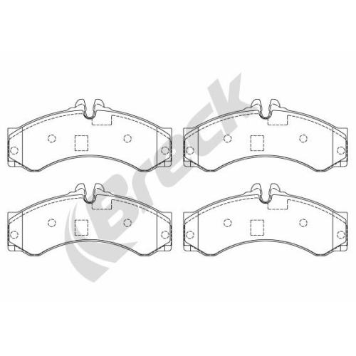Set placute frana Breck 291530070300, parte montare : Punte fata