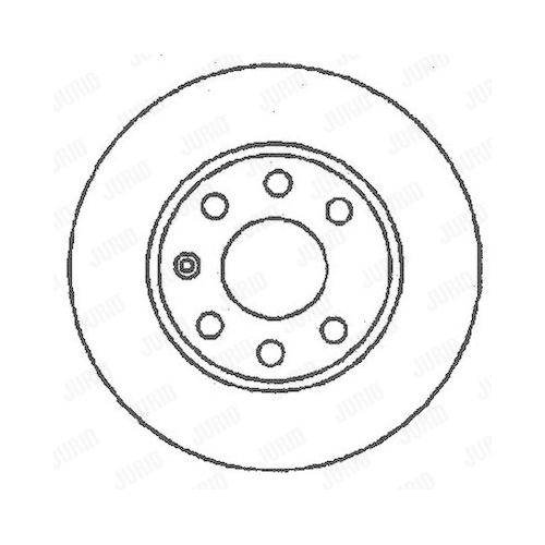 Disc frana Jurid 561158JC, parte montare : punte fata