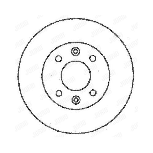 Disc frana Jurid 561235JC, parte montare : punte fata