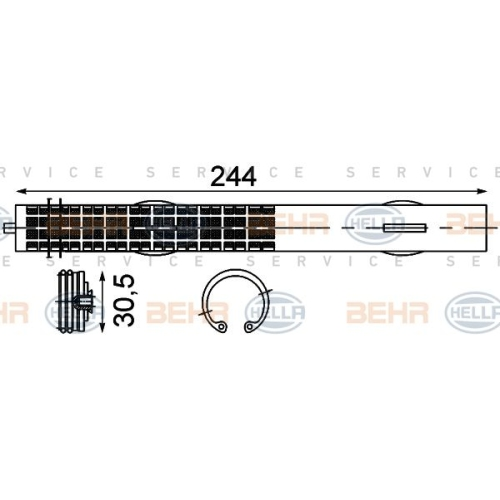 Uscator condensator aer conditionat Hella 8FT351192761