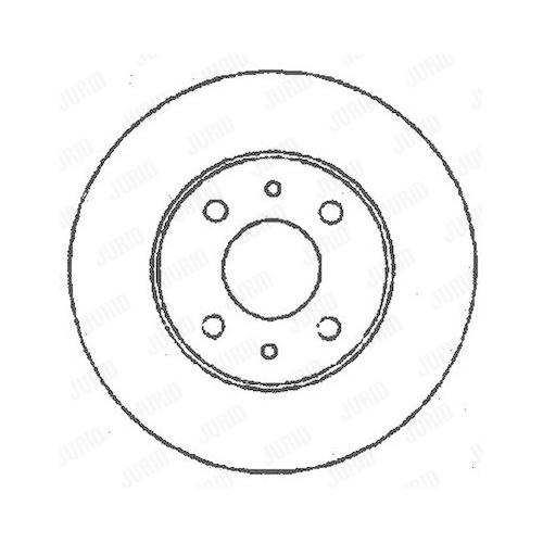 Disc frana Jurid 561387JC, parte montare : punte fata