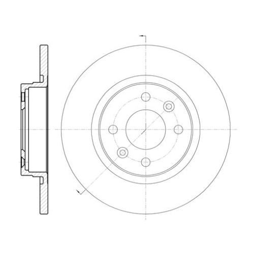 Disc frana Remsa 680900, parte montare : Punte fata