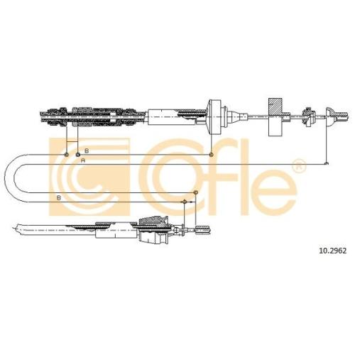 Cablu ambreiaj Renault Laguna 1 (B56, 556) Cofle 102962