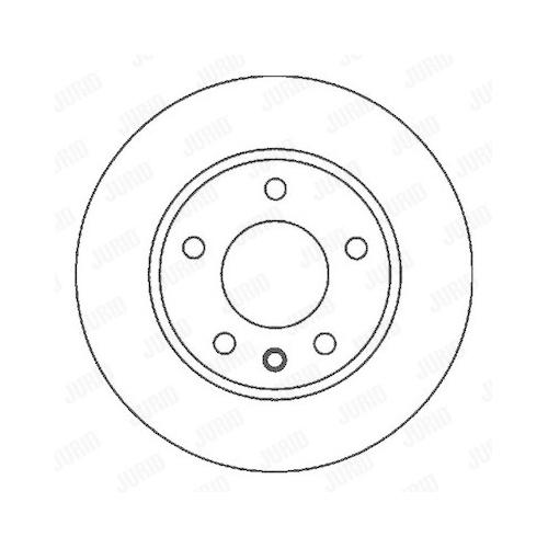 Disc frana Jurid 562053JC, parte montare : punte spate