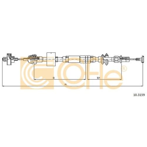 Cablu ambreiaj Seat Arosa (6h), Cordoba Vario (6k5), Ibiza 3 (6k1), Inca (6k9); Vw Caddy 2 (9k9a), Lupo (6x1, 6e1), Polo (6n1/ 6n2), Polo (9n), Polo Classic/Variant (6kv) Cofle 103159