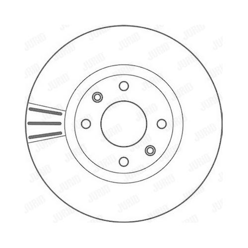 Disc frana Jurid 562129JC, parte montare : punte fata