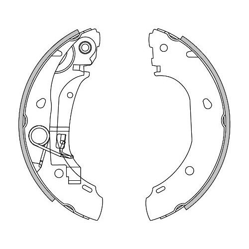 Set saboti frana Remsa 416300, parte montare : Punte spate