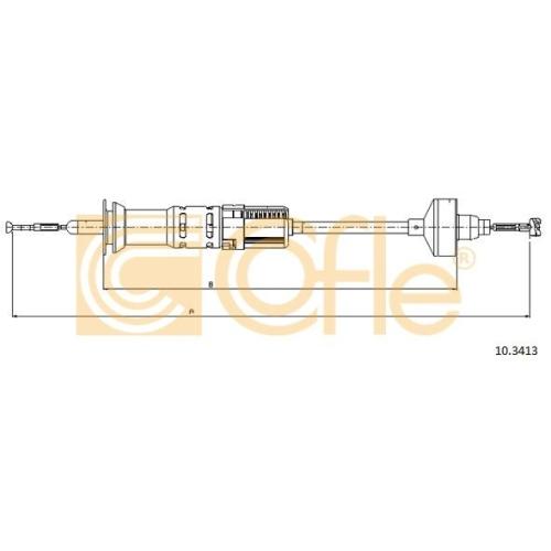 Cablu ambreiaj Vw Golf 3 (1h1), Golf 4 Cabriolet (1e7), Vento (1h2) Cofle 103413