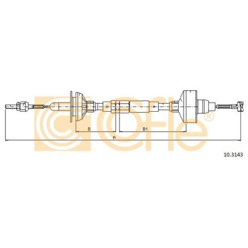 Cablu ambreiaj Vw Golf 3 (1h1), Vento (1h2) Cofle 103143