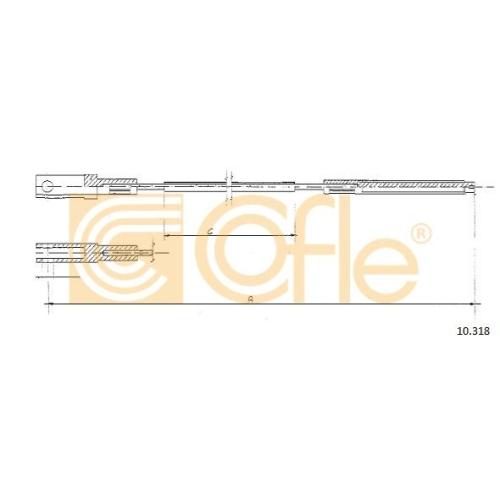 Cablu ambreiaj Vw Transporter 2 Cofle 10318