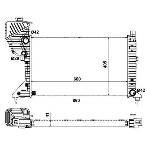 Radiator racire motor Nrf 55348A