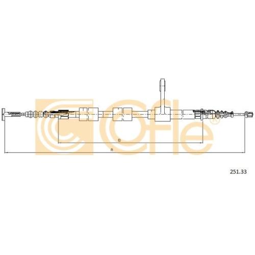 Cablu frana mana Alfa Romeo 147 (937), 156 (932) Cofle 25133, parte montare : dreapta, spate
