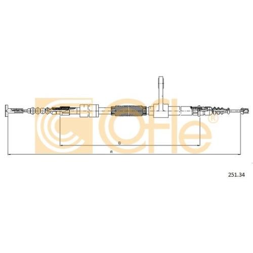 Cablu frana mana Alfa Romeo 147 (937), 156 (932) Cofle 25134, parte montare : stanga, spate