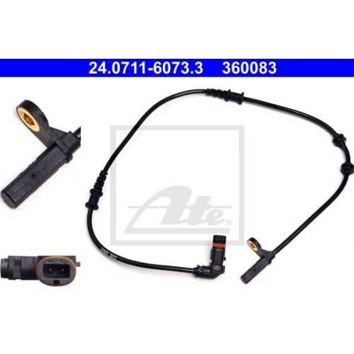 Senzor ABS Ate 24071160733, parte montare : Punte fata
