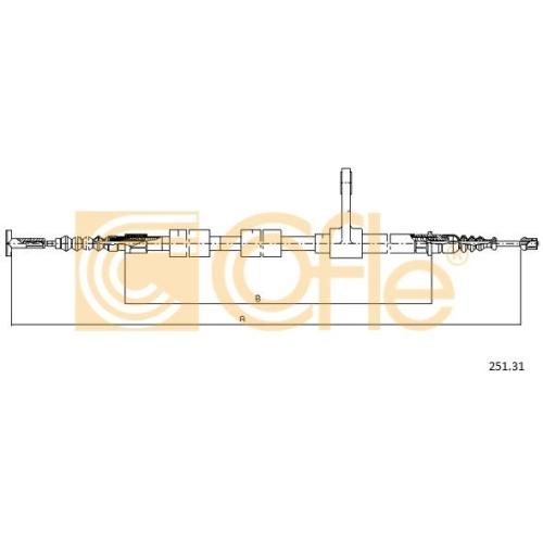 Cablu frana mana Alfa Romeo 156 (932), Gt (937) Cofle 25131, parte montare : dreapta, spate