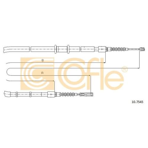 Cablu frana mana Audi 80 ( B3/ B4) Cofle 107545, parte montare : stanga, dreapta, spate