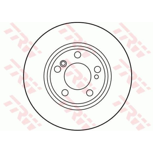 Disc frana Trw DF2757, parte montare : Punte spate