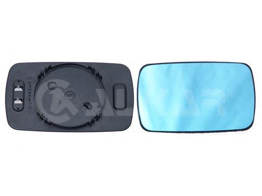 Geam oglinda, sticla oglinda Bmw Seria 3 (E30), Seria 3 (E36), Seria 5 (E34), Seria 7 (E32), Alkar 6432485, parte montare : Dreapta