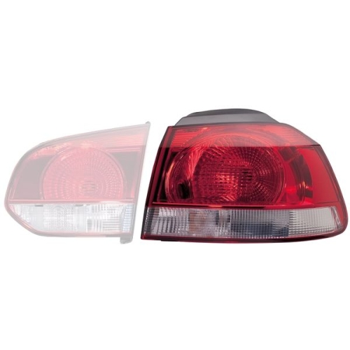 Lampa stop Vw Golf 6 (5k1), Hella 2SD009922101, parte montare : Dreapta