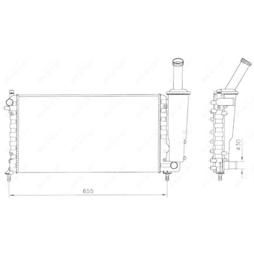 Radiator racire motor Nrf 58171