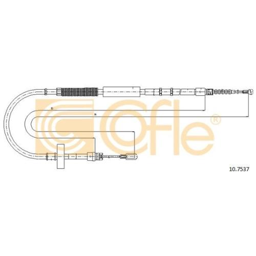 Cablu frana mana Audi A4 (8e2, B6), A4 (8ec, B7); Seat Exeo (3r2) Cofle 107537, parte montare : stanga, spate