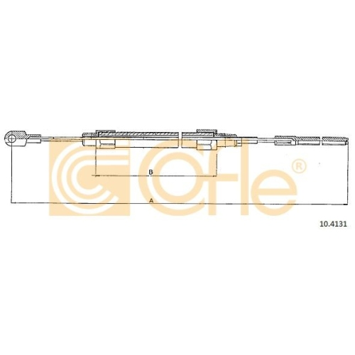 Cablu frana mana Bmw Seria 3 (E36) Cofle 104131, parte montare : stanga, dreapta, spate