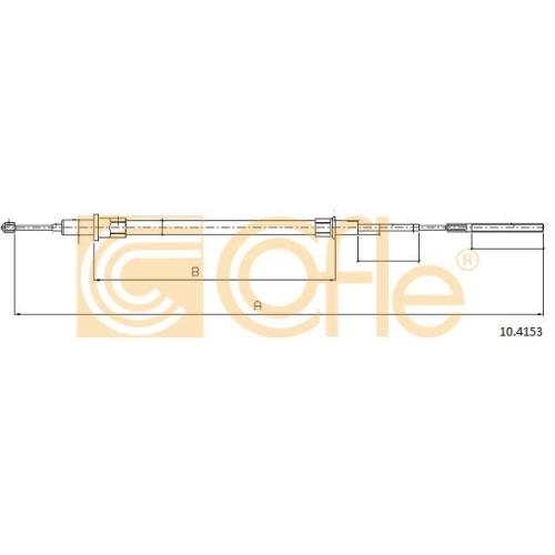 Cablu frana mana Bmw Seria 5 (E39) Cofle 104153, parte montare : dreapta, spate