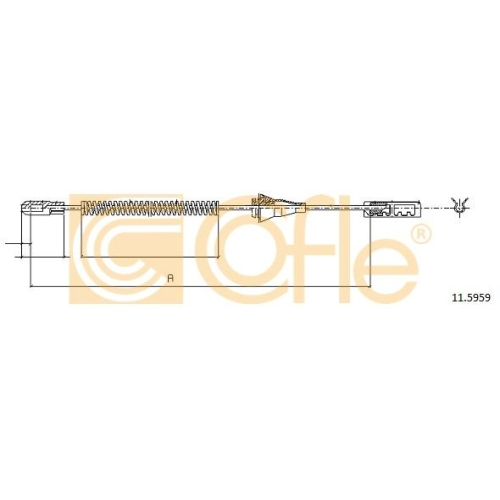 Cablu frana mana Chevrolet Corsa; Opel Astra F Van (55), Astra G (F48, F08), Astra H (L48), Combo Tour, Zafira A (F75) Cofle 115959, parte montare : spate