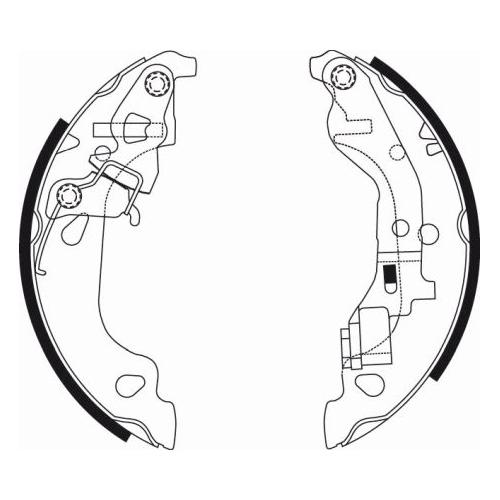 Set saboti frana Textar 91054300, parte montare : Punte spate
