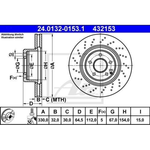 Disc frana Ate 24013201531, parte montare : punte fata
