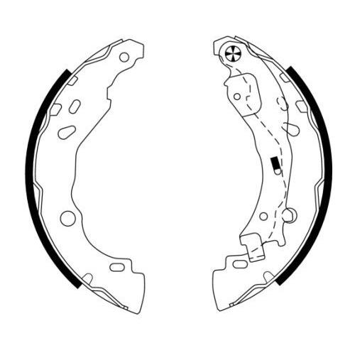 Set saboti frana Textar 91061600, parte montare : Punte spate