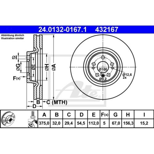 Disc frana Ate 24013201671, parte montare : punte fata