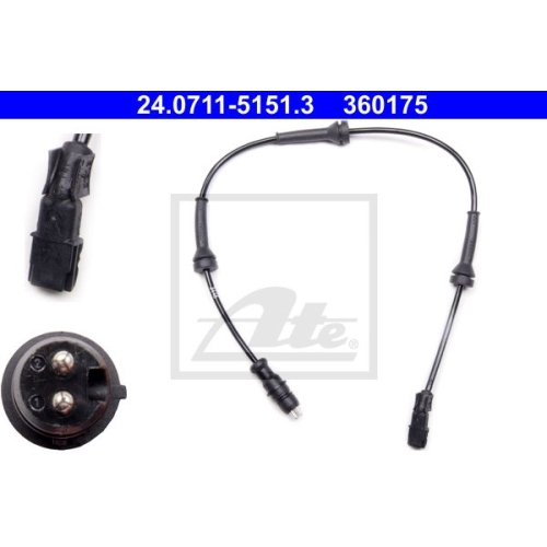 Senzor ABS Ate 24071151513, parte montare : Punte fata