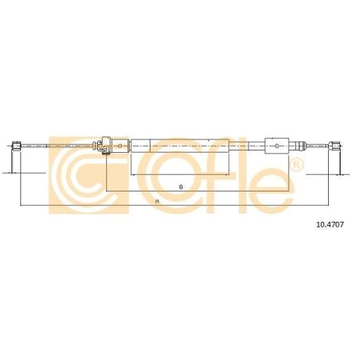 Cablu frana mana Citroen Berlingo (Mf); Peugeot Partner (5f) Cofle 104707, parte montare : dreapta, spate