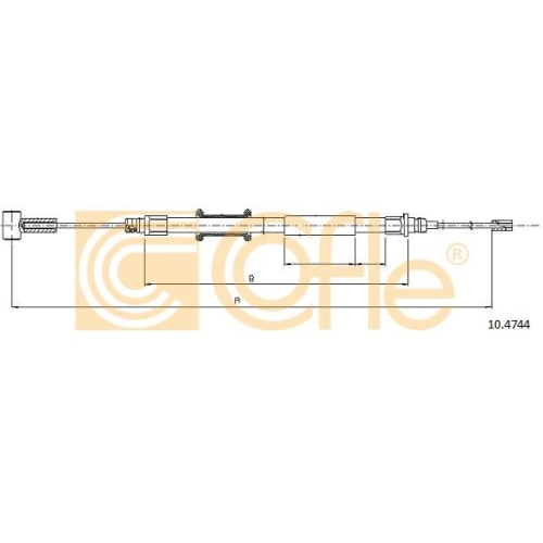 Cablu frana mana Citroen C3 1 (Fc), Jumper; Fiat Ducato (250, 290); Peugeot Boxer Cofle 104744, parte montare : stanga, dreapta, spate