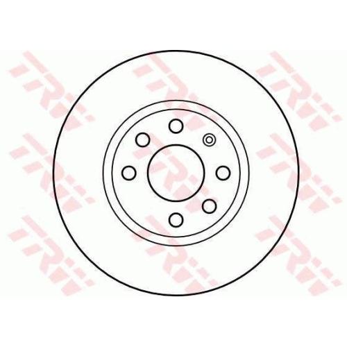 Disc frana Trw DF4165, parte montare : Punte fata